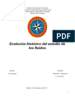 Evol. histirica del estudio de los fluidos