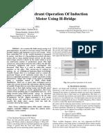 Four Quadrant Operation  Of IM Using H_bridge