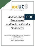 Avance Examen Auditoría de Estados Financieros