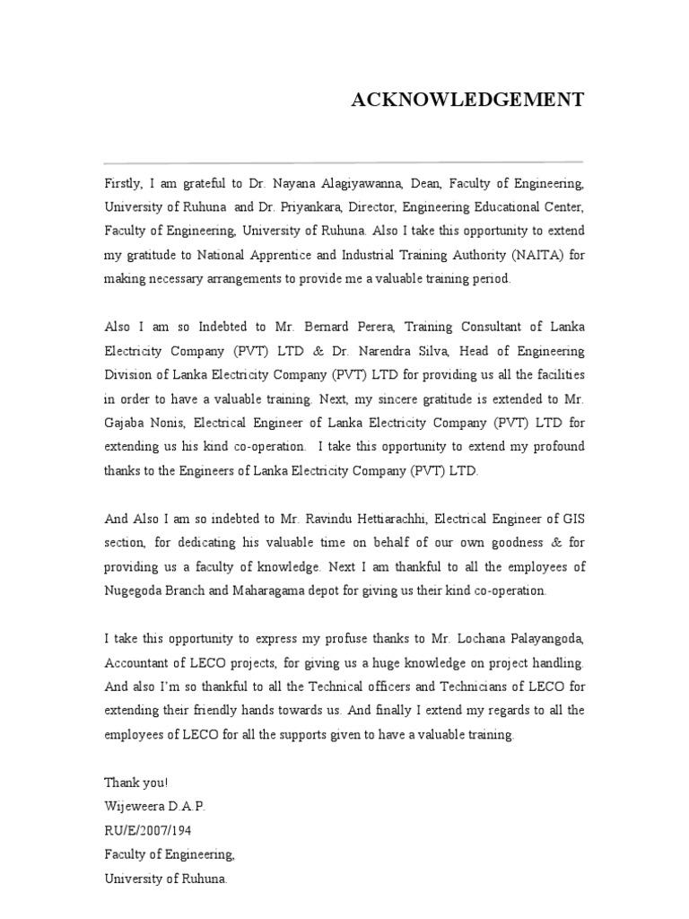 Lanka Electicity Company Training Report
