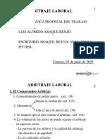 Arbitraje laboral TSJ