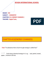 CHAPTER#15 (ENERGY CHANGES) PPT#1