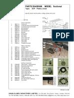 Sectional SVP Platen E bar