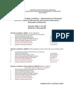 UNIVERSIDAD PEDAGOGICA UPEL CALENDARIO 2020.pdf