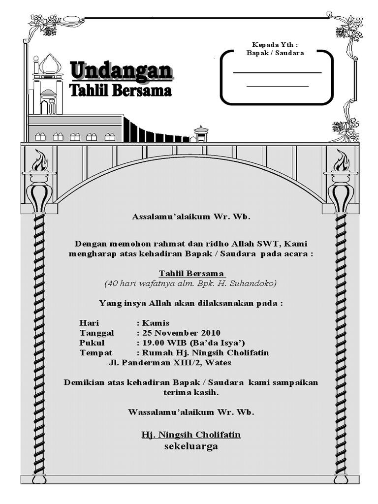 Download Surat Undangan Tahlil
