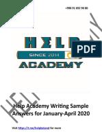 Help Academy Writing Sample Anwers for Jan-Apr 2020