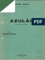 Ovalle, Jayme e Bandeira, Manuel - Azulão (Sol bemol maior) - cópia