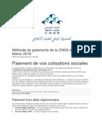 Méthode de Paiements de La CNSS