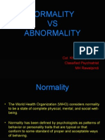 BEH SCIENCES Normalcy vs Abnormalcy
