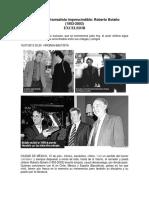Evocan al infrarrealista imprescindible - Roberto Bolaño