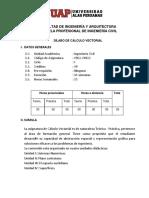 silabus  CÁLCULO VECTORIAL plan 2015