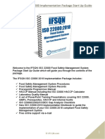 ISO 22000 Implementation Package Start Up Guide Sample (1)