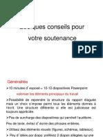 Stage Conseils Pour La Soutenance