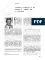 Long-term adaptations to changes in the transverse dimension in children and adolescents