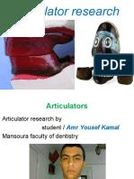 Articulator Research