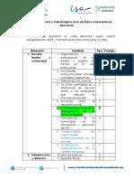 Estructuración técnica y metodológica Línea de Base componente educación