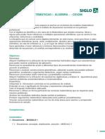 Programa Algebra - UBP