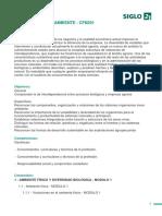 programa Biologia y Medio Ambiente UBP