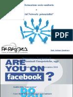 """""""L'informazione socio-sanitaria e i Social Network"""