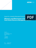 Efficiency and Effectiveness of the Solid Waste Resource Management System