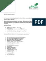 CARTA PRESENTACIÓN SERVICIOS CLÍNICA