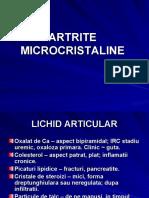 Curs Artrite Microcristaline Dr. Bojinca