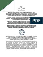BOLETÍN DE PRENSA - PESQUEIRA