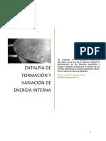 3.-Entalpía y Energía Interna