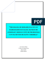 Rehabilitación en Habilidades Sociales