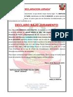 Declaracion Jurada de Domicilio - Arraigo Domiciliario.