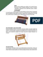 Diferentes tipos de telares