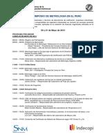 Programa - IV Simposio de Metrología