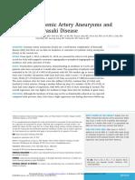 Systemic Artery Aneurysms and Kawasaki Disease
