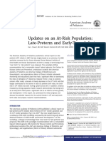 Updates on an At-Risk Population Late-Preterm and Early-Term Infants