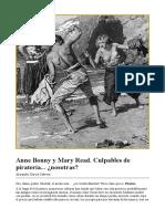 Anne Bonny y Mary Read. Culpables de piratería