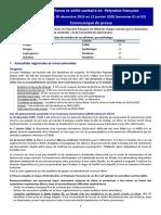Communique de Presse Du Bulletin de Surve Illance Sanitaire Des S01 Et S02-2019