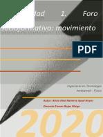 Actividad 1. Foro socioformativo  movimiento