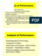 Example of Analysis of Performance Power Point