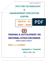 Final Report on NSE