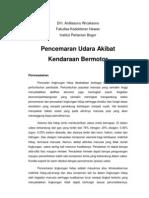 Pencemaran Udara Akibat Kendaraan Bermotor - Drh. Sunu