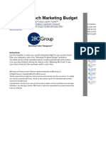 Product Launch Marketing Plan Budget.xlsx