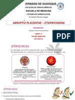 Abruptio Placentae Etiopatogenia - Stephany Montoya