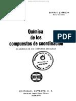 Química de Los Compuestos de Coordinación - Fred Basolo, Ronald Johnson