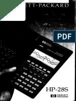 HP-28S Owner's Manual