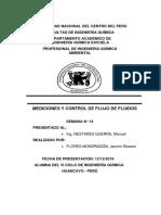 MEDICIONES Y CONTROL DE FLUJO DE FLUIDOS