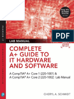Pearson - Complete A+ Guide to IT Hardware & Software (Exams 220-1001 & 220-1002) Lab Manual