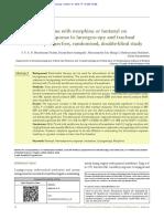Effect of sevoflurane with morphine or fentanyl on haemodynamic