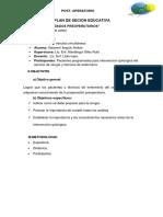 PLAN DE SECION EDUCATIVA pos operatorio