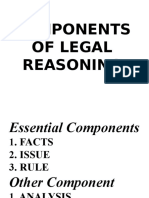 COMPONENTS OF LEGAL REASONING