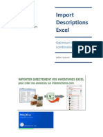 L'import descriptions depuis Excel